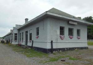 Bassett Train Depot Before Photo